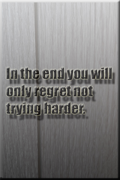 Regret & Try Harder Quote