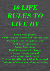 life rules to live by