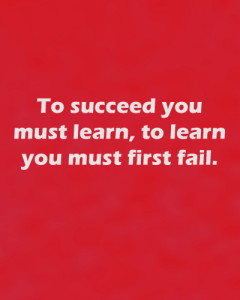 To succeed you must first fail