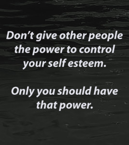 control your self-esteem
