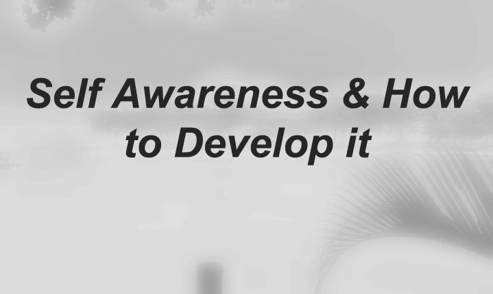 Self Awareness & How to Develop it