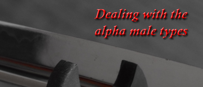 Dealing with the alpha male types