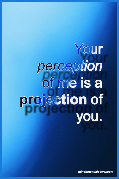 Perception and projection quote.