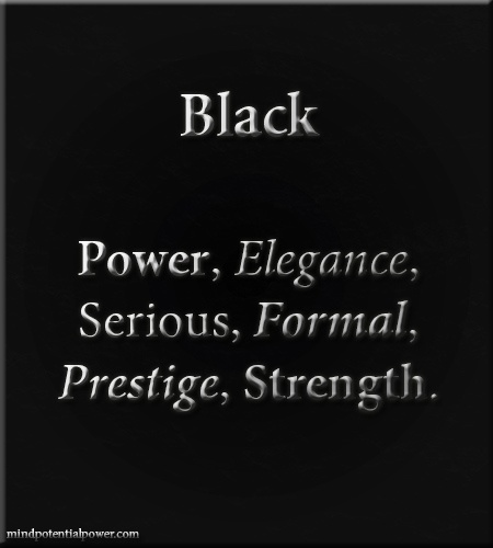 Colour Black Meaning & Personality