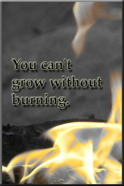 You can't grow without burning.